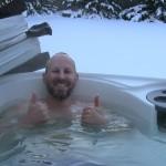 Hot tub snow photo